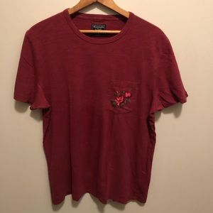 Abercrombie & Fitch Red Tshirt Size M